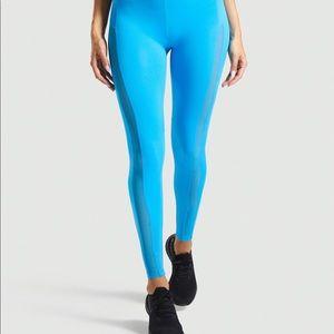 Gymshark Blue High-waisted Workout Legging w Mesh